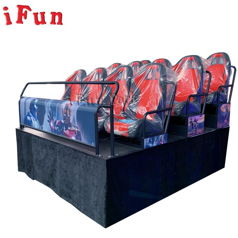 Ifun parkı 6 48 koltuk 5D 7D 9D 12D sinema tam set ile mükemmel kalite silindir
