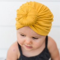 New India hat Unisex Baby Solid Color Knit Turban Hat Autumn Winter Warm Cotton Hat Baby Girls India Knitted Hats