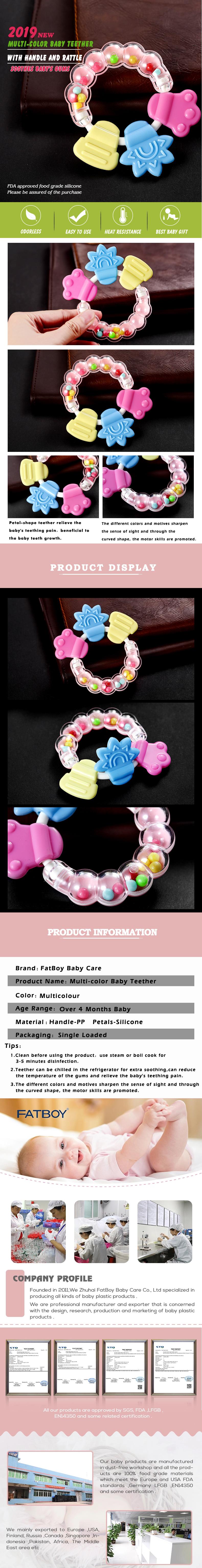 Libre de BPA Natural orgánico bebé juguetes para la dentición