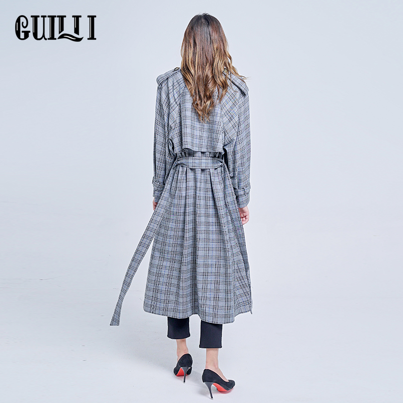 Latest Fashion Korea Women Winter Long Coat Trench Coat Wholesale