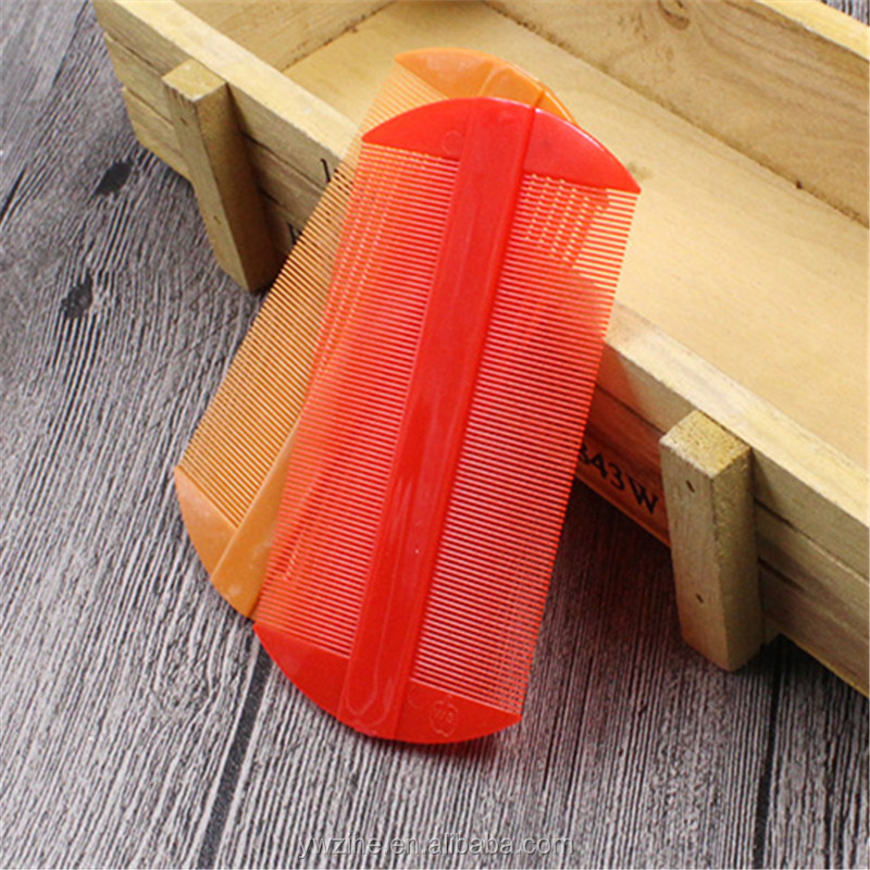 Portable comb Lepidoptera filiformis Plastic nit hair  Styling tool  Plastic double-sided  Scalp Lice Comb