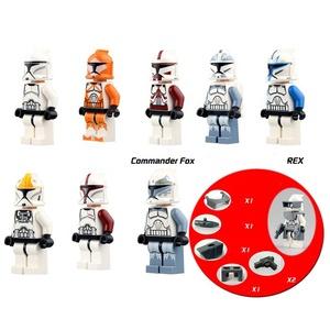 Star Clone Wars Commander Wolffe  Clone Trooper mini figures with Compatible Legoe building brick Model Toy Kids Gift 8pcs