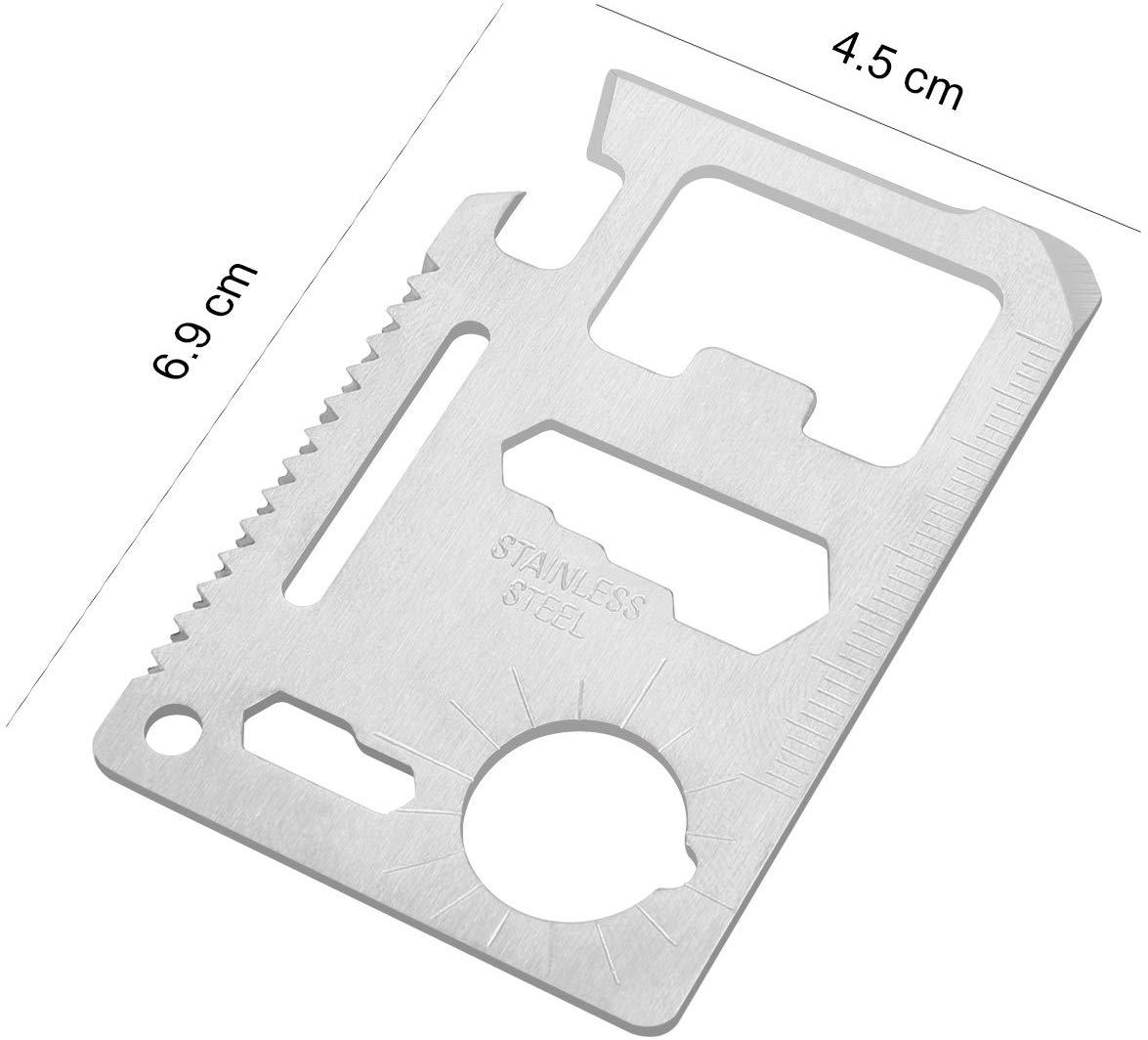 Roestvrij Staal 11 in 1 Opener Zakmes Multipurpose Survival Card Multi Tool Card