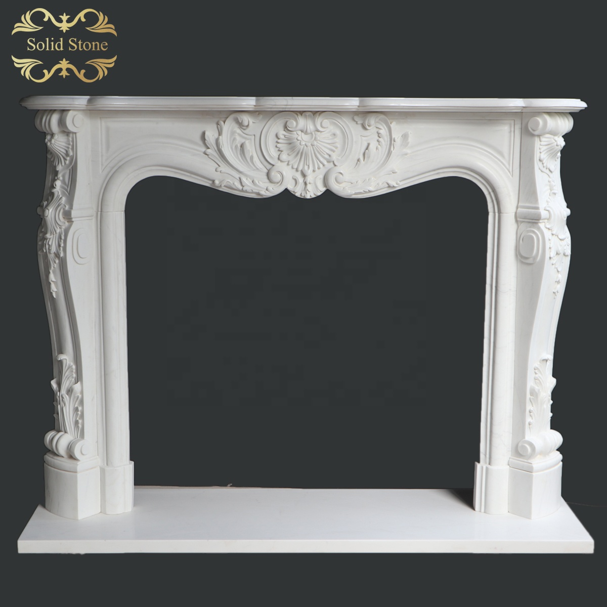 Classic design French style fine carved China white marble fireplace for interior decoration