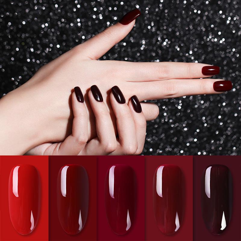 BORN PRETTY Hot Sale Red Blue Pink Series 6ml UV Gel Nail Polish for Nail Art Salon