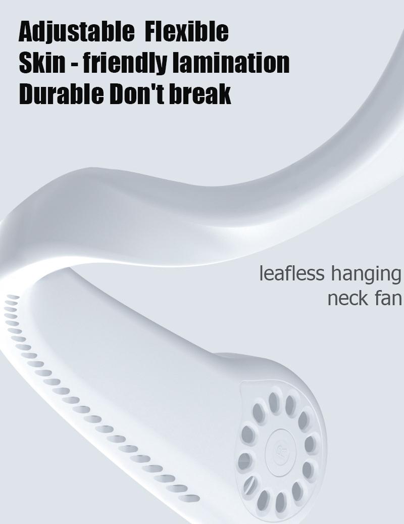 leafless hanging neck fan 2020 newest trending mini rechargeable fan air cooling fan portable 2 in 1 neck fan