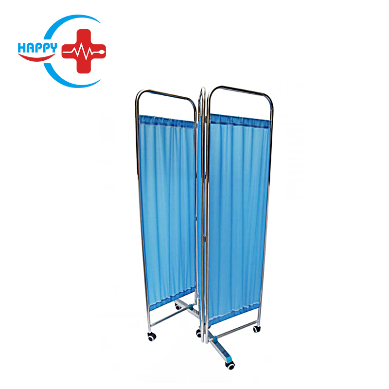 HC-M096 High Quality Medical Stainless steel 3 folding screen/hospital ward screen/ examination screen