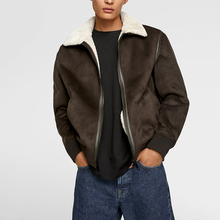 Custom Bomber Giacca di <span class=keywords><strong>Pelle</strong></span> <span class=keywords><strong>Scamosciata</strong></span> Shell Fux Fodera <span class=keywords><strong>In</strong></span> Pelliccia di Inverno Gli Uomini Giacca Giacca <span class=keywords><strong>Marrone</strong></span>