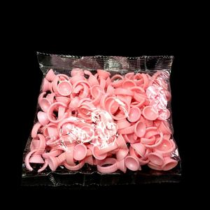 Professional Eyelash Extension Tool Glue Ring Pink Glue Cup Disposable Pink Glue Ring
