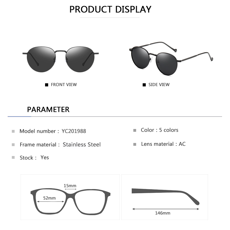 EUGENIA Hot Sales Portable Individuality Man Sunglasses  women's cheap plastic sunglasses
