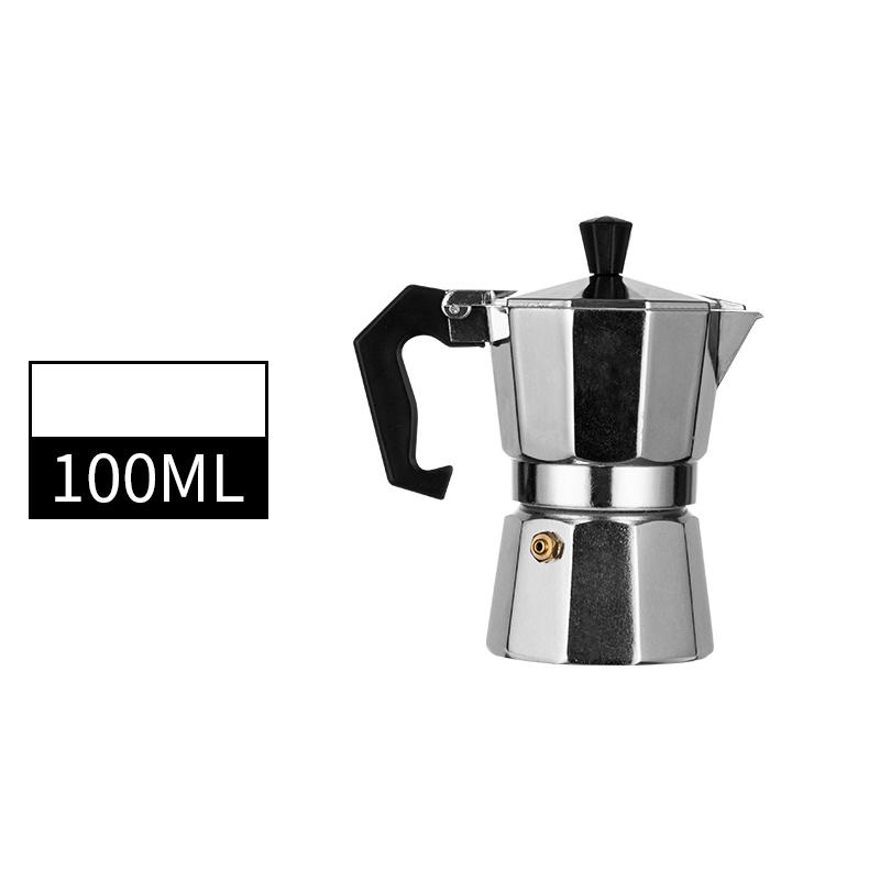 Кофеварка прочная Moka Cafeteira Expresso Percolator Pot практичный Moka Coffee Pot 50/100/150/300/450/600 мл(Китай)