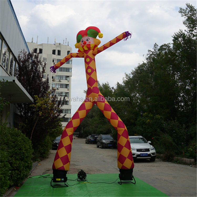 Customized inflatable clown air dancer / sky dancer for outdoor promotion