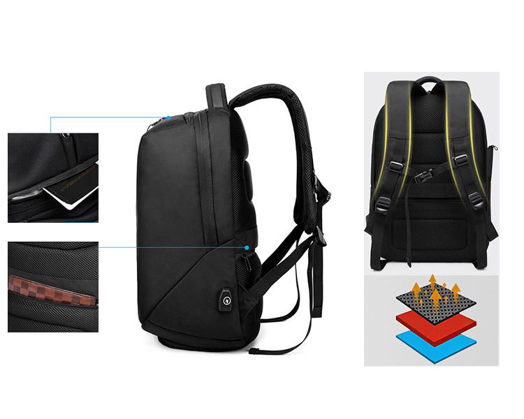 China manufacturer outdoor laptop sports backpack with shoe compartment