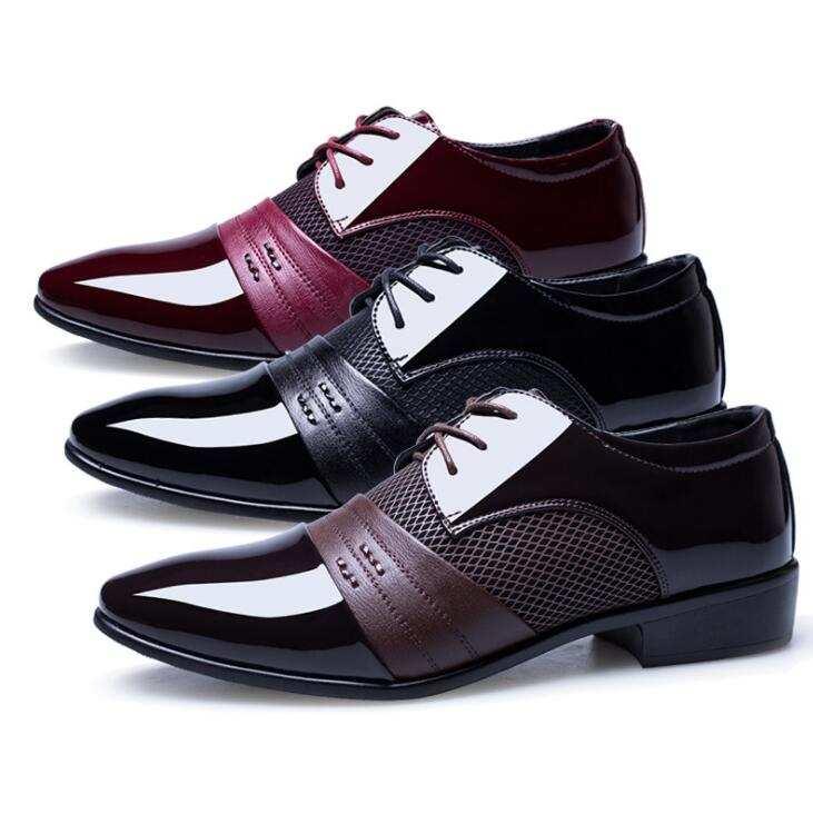Sepatu Formal Bisnis Baru 47, 48 Sepatu Pria Ekstra Besar Musim Gugur 2019 Sepatu Formal Inggris Runcing