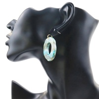 Korean Large Blank Hoop Acid Acetate Geometry Acrylic earring