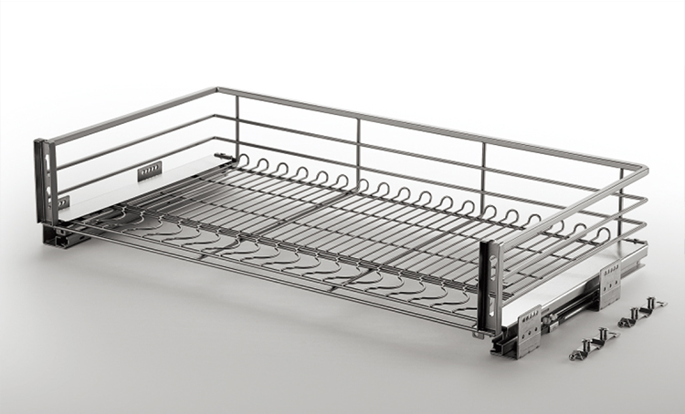 Unihopper kitchen cabinet accessories storage stainless steel pull out drawer wire basket