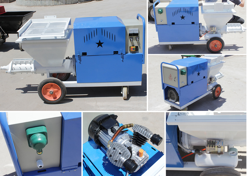 mortar gypsum plaster spraying machine for sale/automatic wall plastering machine/wall cement spray plaster machine
