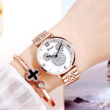JBAILI часы для женщин Gypsophila бриллиантовые модные золотые женские часы браслет из нержавеющей стали ЖЕНСКИЕ НАРЯДНЫЕ часы Relogio Feminino(Китай)