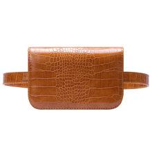 Винтажная поясная сумка для женщин из искусственной кожи аллигатора сумка на пояс кошельки женские сумки подходящие 5,5 дюймовые телефоны д...(Китай)