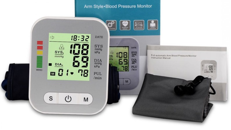 Digital Upper Arm Bp Meter Machine Blood Pressure Monitor Sphygmomanometer With Cuff