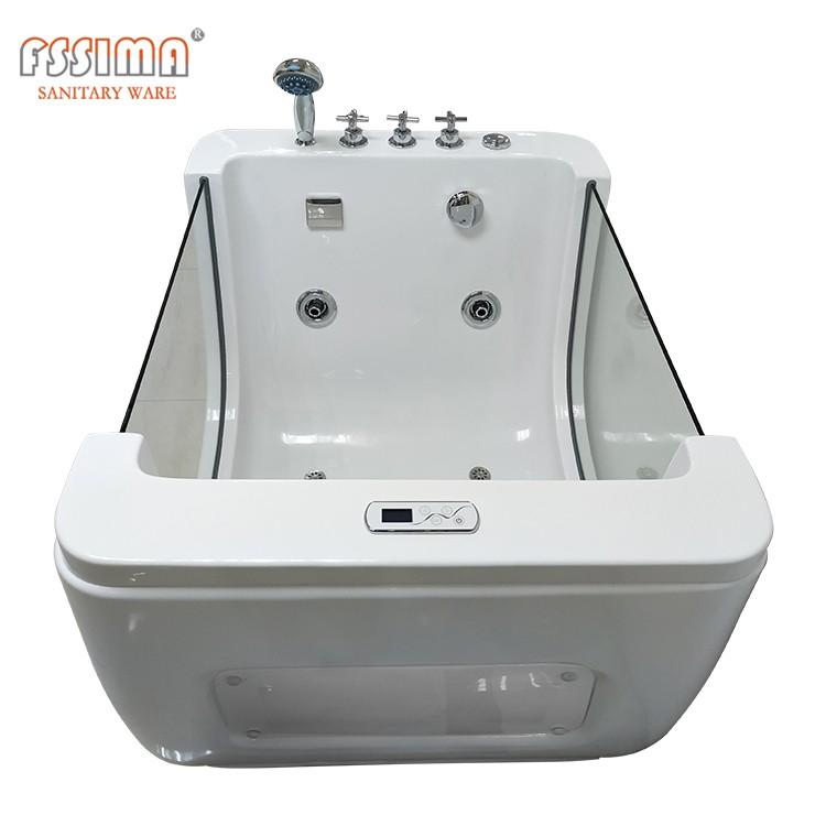 Hot selling small freestanding acrylic baby massage bathtub