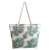 Large Summer Beach Bag Rope Handles Bag Tote With Print Inner Zipper Pocket
