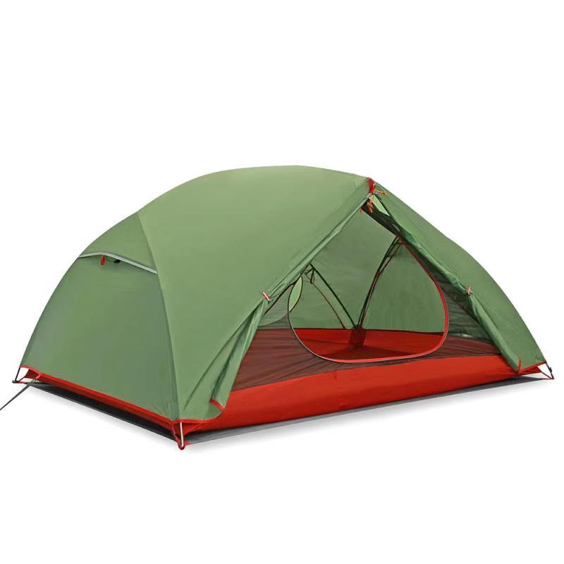 2020 ultraleicht 3 mann 20D Nylon Doppel Schichten Wetterfeste Aluminium Pole Außen Camping Zelt Bett