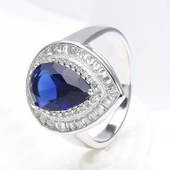 Tanzanite cz princess cut diamond wedding ring