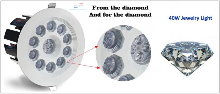 UGR19 Anti-Glare 35w 40w downlight surface IP44 cob black frame trimless recessed adjustable led downlight