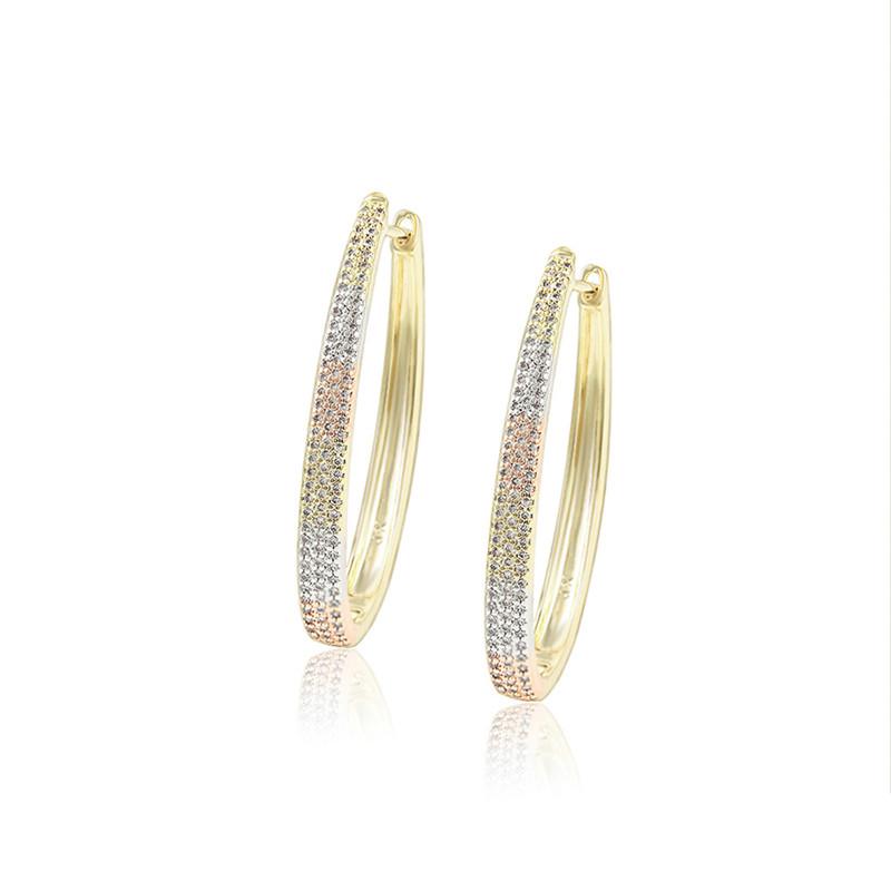 99543 Xuping free shipping luxury cz zircon diamond hoop earrings women jewelry