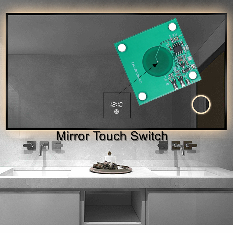 Mirror Touch Dimmer Switch LED Mirror Light Touch Sensor Switch for Home Hotel Cabinet LED Light Makeup Mirror