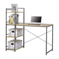 High Quality Computer Desk With Metal Tall Bookcase In side