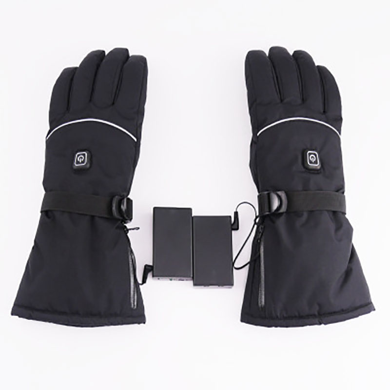 Winter Waterproof Battery Powered Racing <strong>Riding</strong> Heating Gloves Touch Screen <strong>Motorcycle</strong> Heated Gloves