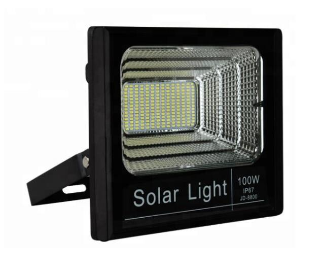 100W Outdoor LED Solar Spotlights IP65 grade Solar Led Flood <strong>Light</strong> for Garden Lighting