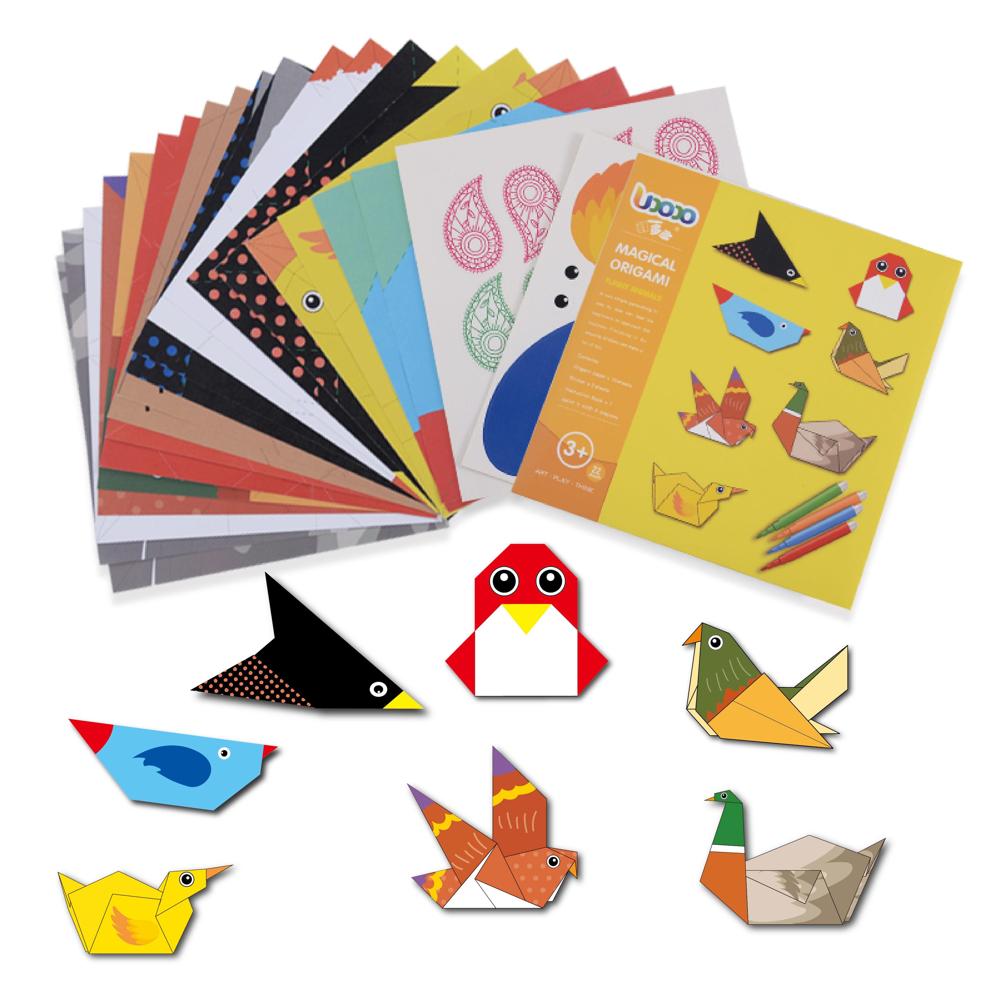 色子供の diy 折り紙ゲーム、 3D マニュアル折り紙クレーンゲームセット