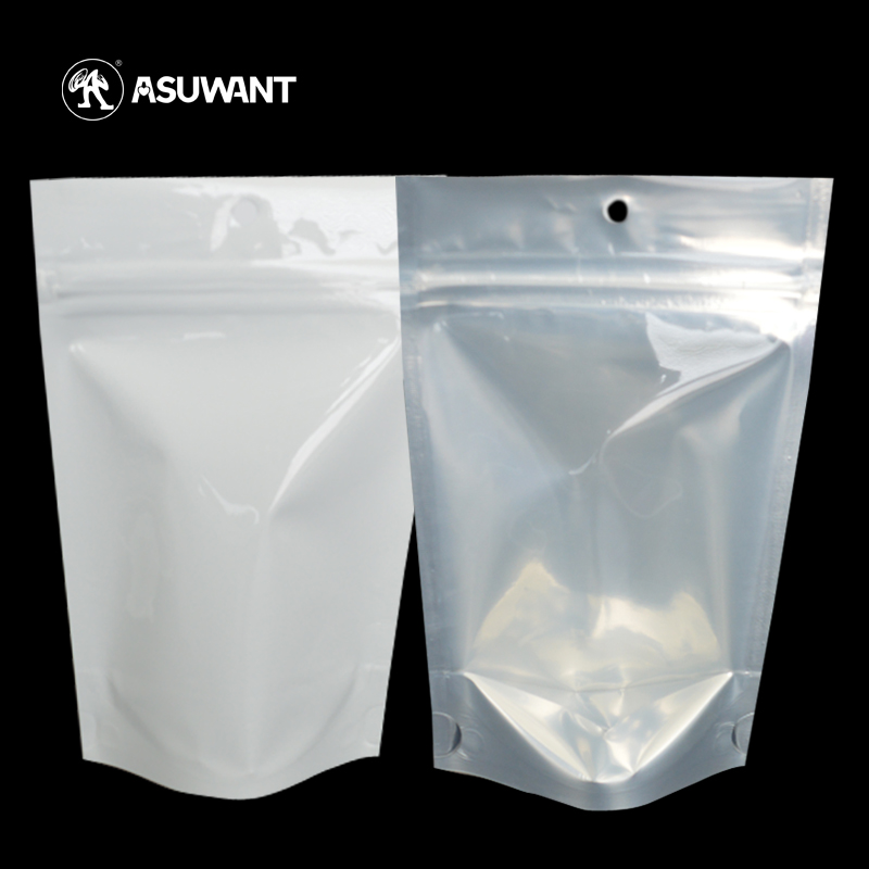 Reusable Good Quality Clear Zip Packing Pouch with Own Logo for Fruit Tea , Powder , Seed