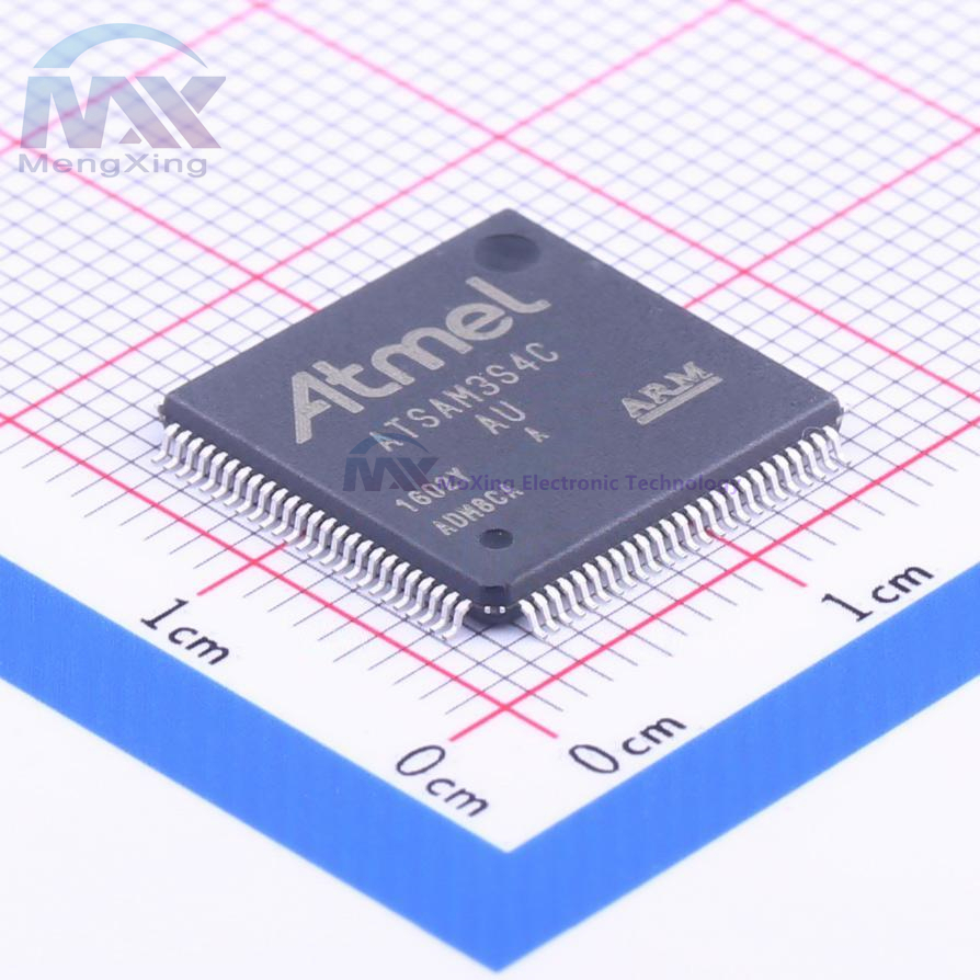 32 bits-MCU ARM Cortex M3 Flash ATSAM3S4CA-AU ATMEL IC