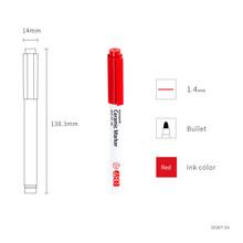 Керамическая маркерная ручка, 12 цветов, 1,4 мм, для рукоделия, рисования, граффити, корейские Канцтовары, школьный подарок для детей A6470(Китай)