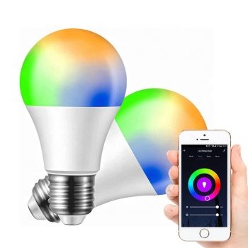 Tuya APP Voice Control A60 Br30 Wifi Smart Bulb Lights B22 LED Light Bulb Google Home