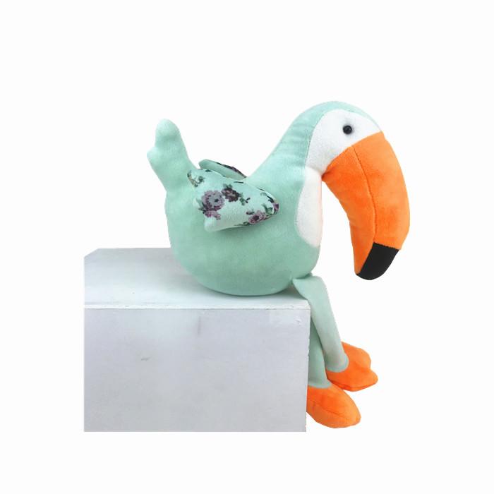 ไอเดียใหม่-ตกแต่ง Handcrafted สัตว์นกเงือกนุ่มของเล่นกำมะหยี่ใหญ่ปากนกตุ๊กตา Taco Toucan ชั้นวางเลี้ยงตกแต่ง