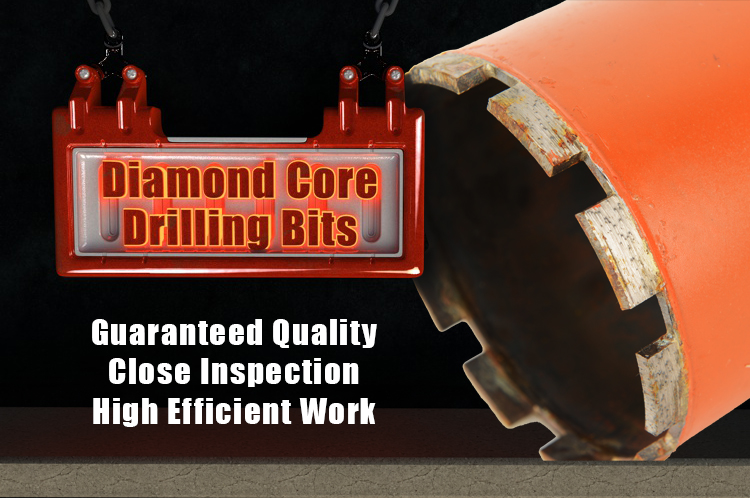 High Efficiency Diamond Core Drill Bit For Drilling Reinforced Concrete