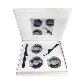 Suppliers direct eyeliner liquid false eyelash set, magic glue eyeliner liquid pen with custom packaging box