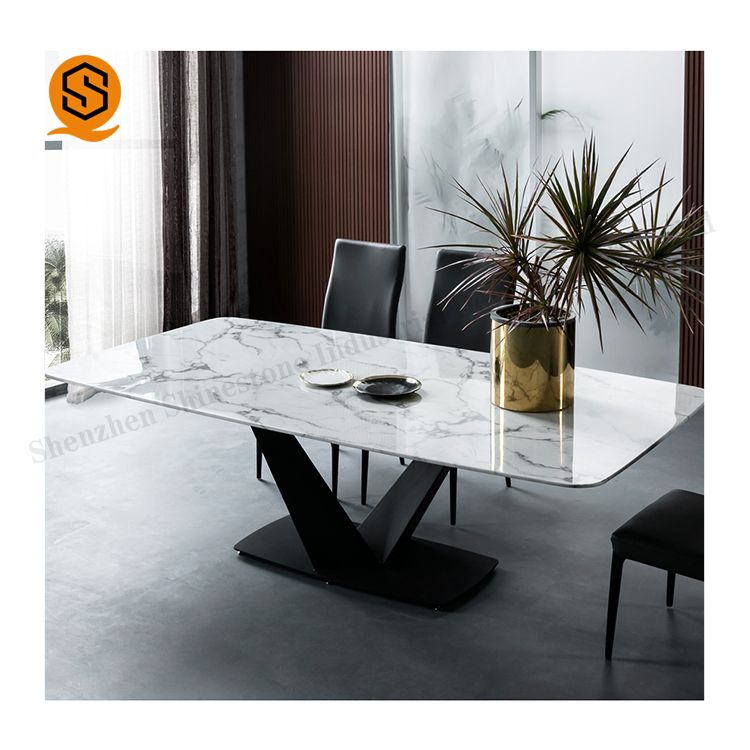 man-made stone modern design modified acrylic glossy top marble coffee table