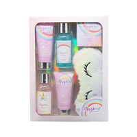 OEM bath body scrub set and works lotion gift set