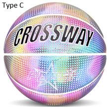 Мяч 7 # уличный баскетбольный ночник отражатель тренировочный мяч для соревнований баскетбольный мяч TikTok из искусственной кожи для внутрен...(Китай)