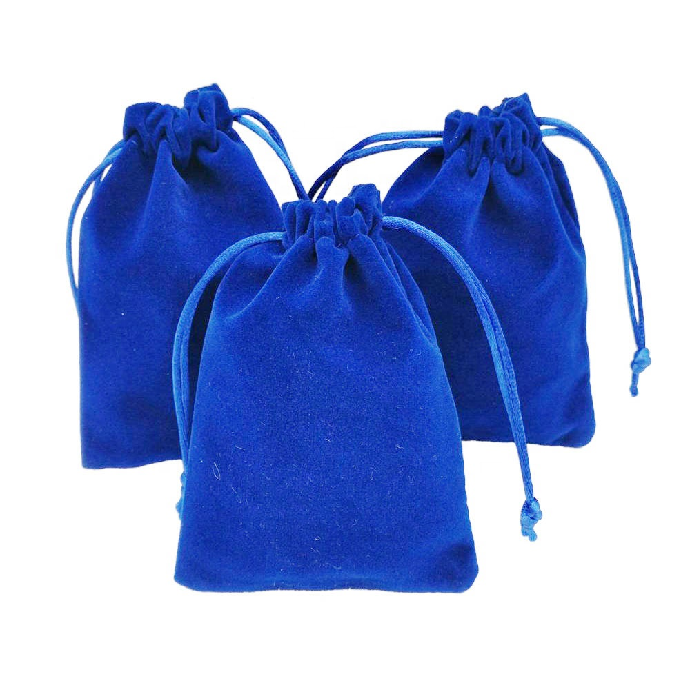 wholesale custom customised small pouches velvet jewelry velvet drawstring bags