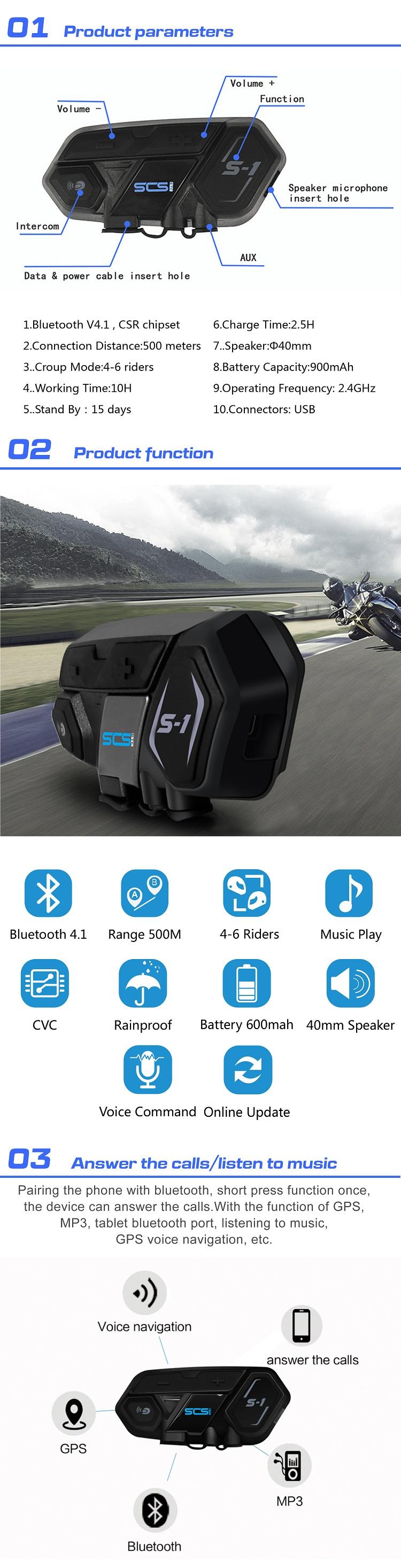 Grosir Skuter Sepeda Motor Tait Radio Komunikasi Headset Comunicador
