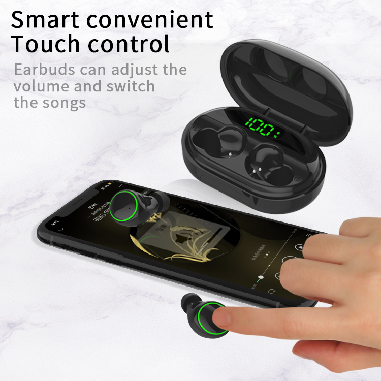 Bluetooth Earphone TWS 5.0 Wireless Head-phones Waterproof Bluetooth Headset for Smart Phone