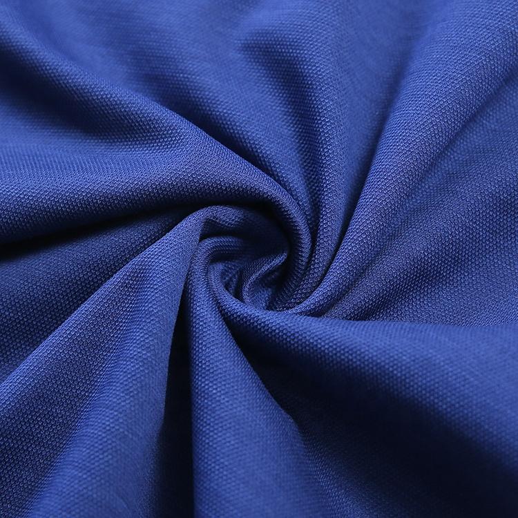 Фабричное преимущество хлопок шелк Пике трикотажная ткань для рубашки поло