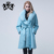 Lovely Ladies Fur Long Cashmere Coat Of Whole Fox Skin Luxury Design Real Fur Overcoat